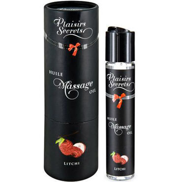 Plaisirs Secrets Massage Oil Litchi, 59мл Массажное масло Личи массажное масло concorde клубника 59 мл