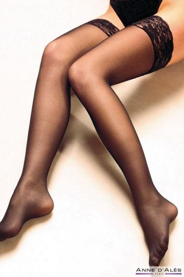 Anne d'Ales Alexia Stockings, черные Чулки на силиконовой резинке lolitta boudoir stockings черные чулочки с кисточками