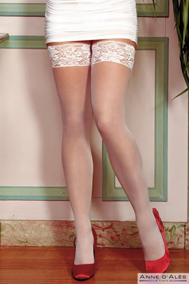 Anne d'Ales Alexia Stockings, белые Чулки на силиконовой резинке anne d ales bruna stockings белые чулки на широкой резинке
