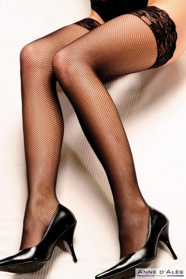 Anne d'Ales Camilla Stockings, черные Чулки в мелкую сеточку lolitta boudoir stockings черные чулочки с кисточками