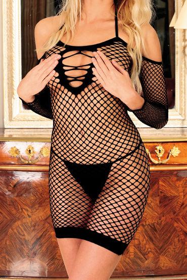 Anne d'Ales Diable Innocent, черное Откровенное мини-платье
