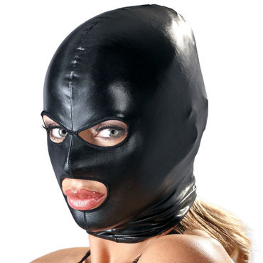 Bad Kitty Mask, черная BDSM-маска на голову пикантные штучки стринги для страпона с системой o ring