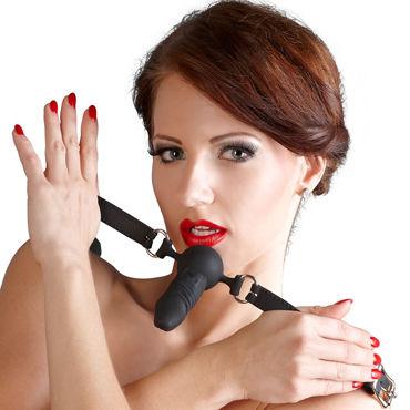 Bad Kitty Silicone Gag Ball, черный Кляп с реалистичный фаллоимитатором bad kitty ball gag with nipple clamp маска с кляпом и зажимы для сосков