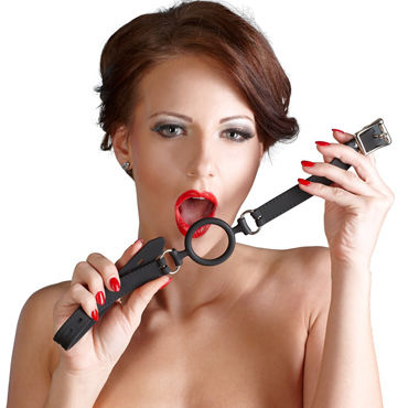Bad Kitty Silicone Ring Gag, черный Кляп-расширитель erotic fantasy o ring gag кляп расширитель