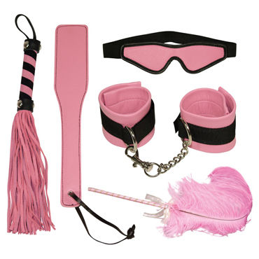 Bad Kitty Bondage Set, розовый Набор из пяти предметов г podium трусы