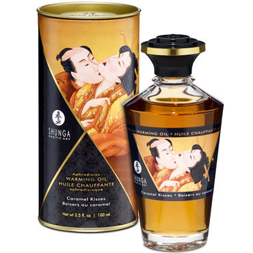 Shunga Caramel Kisses, 100 мл Массажное масло Карамельный поцелуй shunga blazing cherry 100 мл массажное масло пылающая вишня