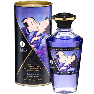Shunga Exotic Fruits, 100 мл Массажное масло Экзотические фрукты масло массажное eros exotic персик 50 мл