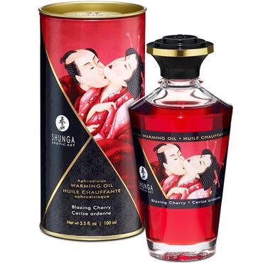 Shunga Blazing Cherry, 100 мл Массажное масло Пылающая вишня канпо лубрикант гель смазка encho для мужчин с феромонами пролонгирующий 50мл