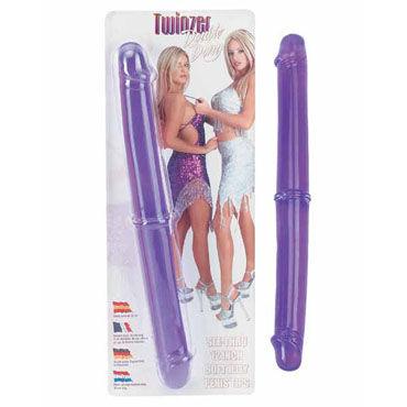 Gopaldas Twinzer фиолетовый Двусторонний фаллоимитатор страпоны с креплениями цвет фиолетовый