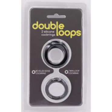 Gopaldas Double Loops, черные Два эрекционных кольца gopaldas mojo vigor черное лассо на пенис