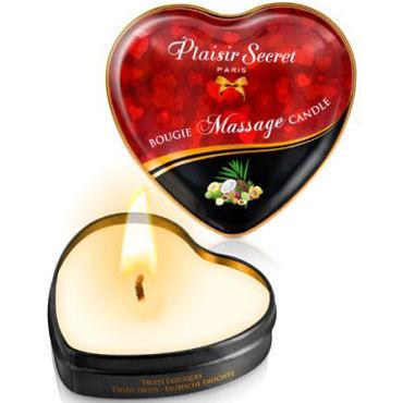 Plaisirs Secrets Massage Candle Heart Exotic Fruits, 35мл Свеча массажная с ароматом Экзотические фрукты plaisirs secrets male performance cream nuit ardente 60мл крем для мужской силы