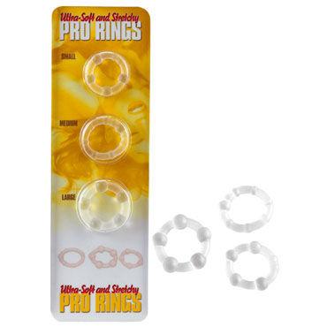 Gopaldas Stretchy Pro Rings Набор из трех эрекционных колец набор из 2 х эрекцонных колец max width silicone rings фиолетовые