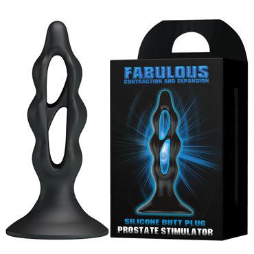 Baile Fabulous, черный Анальный плаг, массажер простаты vizit презервативы hi tech comfort оригинальной формы 12 шт