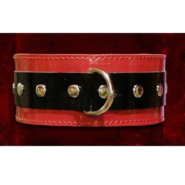 Podium ошейник Широкий, с D кольцом podium наручники черно красные с заклепками