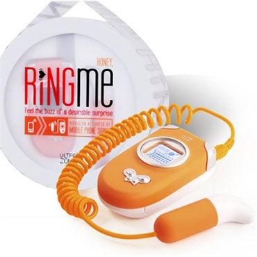 Ideal Ring Me оранжевый Вибратор, работающий от телефона ф кляпы цвет оранжевый