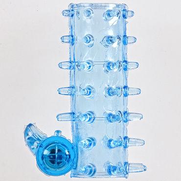 Sextoy Насадка голубой Насадка на пенис с вибрацией nmc aqua quarts 7 голубой фаллоимитатор реалистик