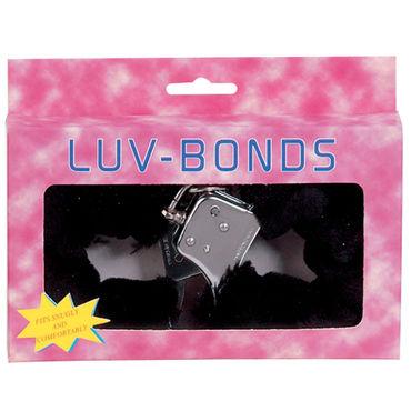 Gopaldas Luv Bonds черный Наручники с искусственным мехом ouch body bondage tape розовая лента для тела