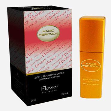 Magic Feromon Flower Unisex, 20 мл Духи с феромонами унисекс, цветочный аромат ns novelties booty pops розовая анальная пробка