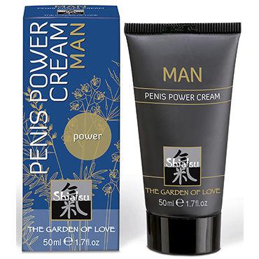 Shiatsu Man Penis Power Cream, 50 мл Крем для мужчин, увеличивающий эрекцию shots toys sono butt plug 11 серая анальная пробка