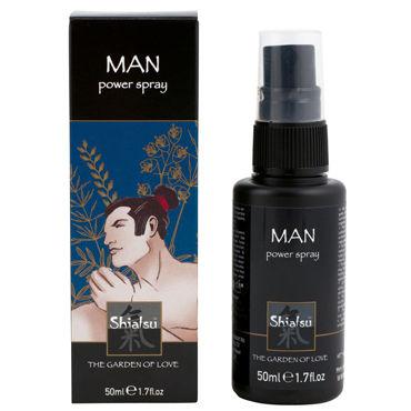 Тестер Shiatsu Man Power Spray Спрей для мужчин, увеличивающий эрекцию тестер shiatsu tightening spray woman спрей для женщин с сужающим эффектом