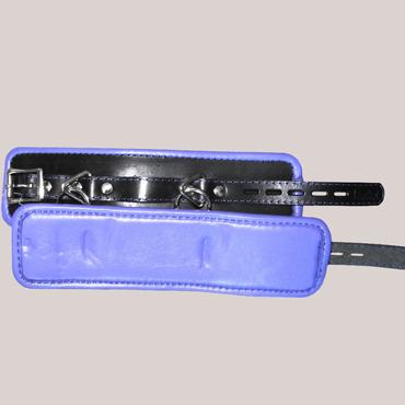 Podium Наножники подвернутые, черно-фиолетовые База с двумя треугольниками с кольцом podium пояс верности красно черный с замочком и ключами