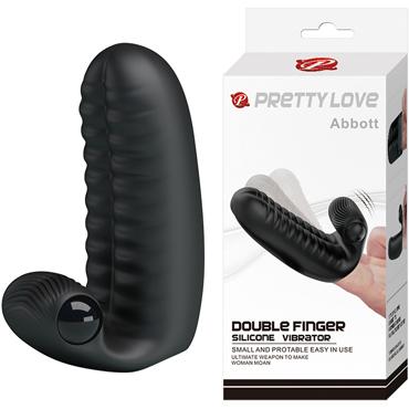 Baile Pretty Love Abbott, черная Насадка на палец с вибрацией baile men extension черная насадка на пенис с вибрацией