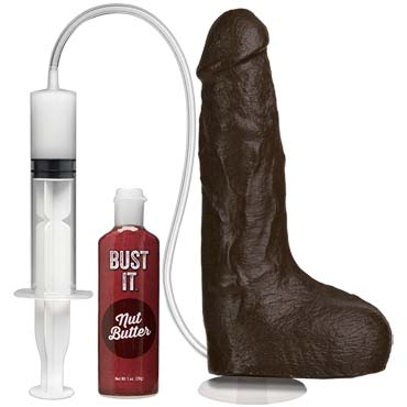 Doc Johnson Bust It Squirting Realistic Cock, коричневый Фаллоимитатор реалистик на присоске с семяизвержением doc johnson squirt it squirting pussy телесная вагина мастурбатор с эффектом сквиртинга