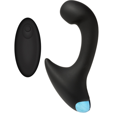 Doc Johnson OptiMALE Vibrating P-Curve with Wireless Remote, черный Вибромассажер простаты с беспроводным управлением 20 speeds female wireless remote control vibrating egg sex toys