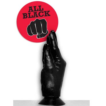 O-Products All Black Рука-кисть реалистик, черная Для фистинга, на присоске рука для фистинга the natural hand