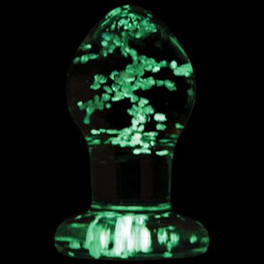 NS Novelties Firefly Glass Plug Small, светящаяся в темноте Стеклянная анальная пробка классической формы ns novelties kinky camo стек оригинальной формы