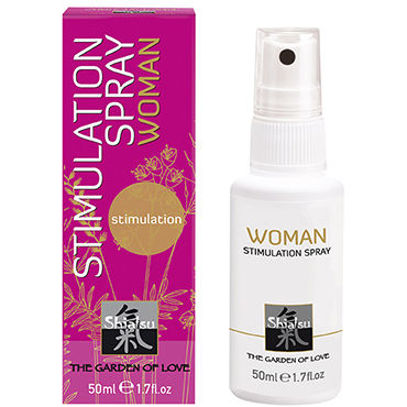 Shiatsu Woman Stimulation Spray, 50 мл Стимулирующий спрей для женщин shiatsu гель для ванны и душа с ароматом дикой орхидеи 400 мл