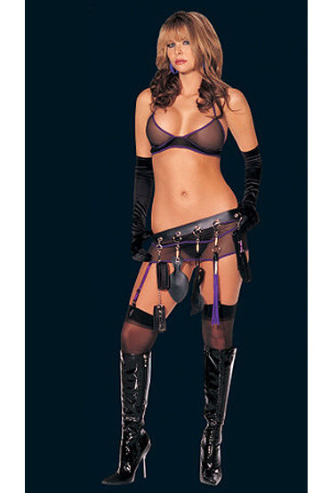 Shirley комплект С перчатками и юбочкой, БДСМ с подвязки ду frivole