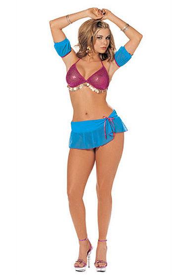 Shirley Танцовщица Топ-бюстгальтер, нижняя юбочка, стринги, нарукавники
