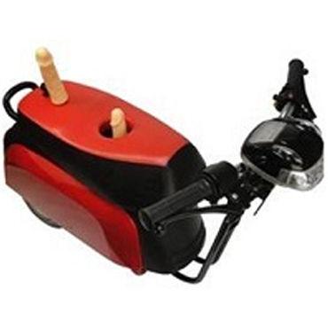 Leco Супер Мотор Секс-машина в виде мотоцикла ошейник из кожи лакированный