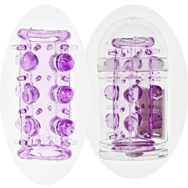 Sextoy насадка С шипами и бусинками canwin вагинальные шарики фиолетовые