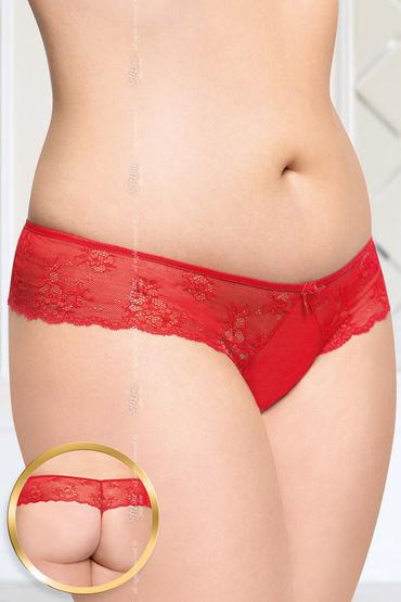 Soft Line стринги, красные С цветочным кружевом soft line трусики красные с пикантным разрезиком