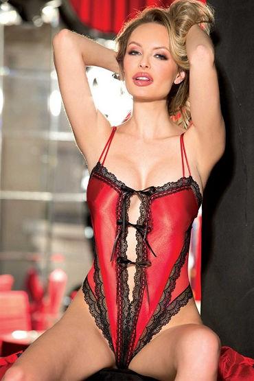 Shirley боди С кружевной отделкой shirley боди черно красное в сетку со шнуровкой