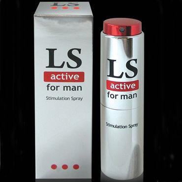 Bioritm Lovespray Active Men, 18 мл Cпрей-лубрикант с возбуждающим эффектом эрекционное кольцо oxballs unit x stretch cocksling black os