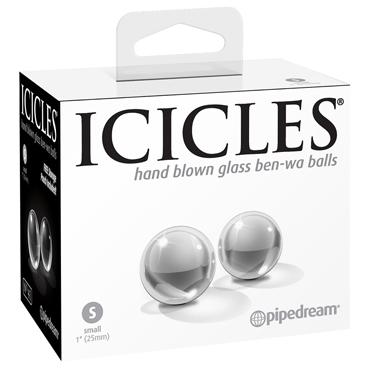 Pipedream Icicles No.41 Glass Ben-Wa Balls Small, прозрачные Стеклянные вагинальные шарики фаллоимитатор из стекла icicles no 6