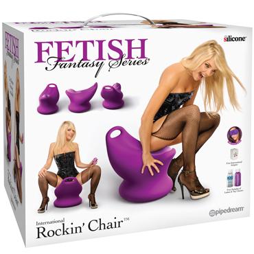 Pipedream Fetish Fantasy Series International Rockin' Chair, фиолетовый Сиденье с вибростимуляцией и пультом управления вибраторы цвет красный