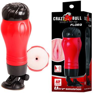 Baile Crazy Bull Flora Anus, красный Мастурбатор анус с вибрацией и голосовым сопровождением nmc nanma slight bend lightly veined jelly vibe 8 розовый реалистичный вибратор