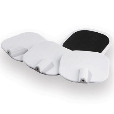 Mystim E-stim Electrodes, белые Силиконовые сменные подушечки-электроды массажный гель mystim 50 г