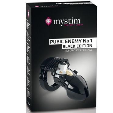 Mystim Pubic Enemy No1, черный Пояс верности с элетростимуляцией mystim pure vibes аналоговый электростимулятор