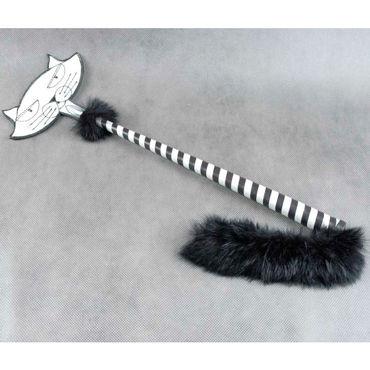 Beastly Приласкай киску, черно-белый Cтек со шлепком в форме мордочки кота beastly мульти пульти красно черный cтек со шлепком в форме мультяшной ладошки