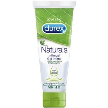 Durex Naturals, 100 мл 100% натуральный интимный гель презервативы durex dual extase рельефные с анестетиком 12шт
