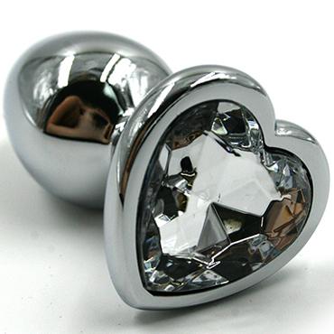 Funny Steel Anal Plug Zi, серебристый/прозрачный Анальная пробка с кристаллом в форме сердца funny steel anal plug zi серебристый фиолетовый анальная пробка с кристаллом в форме сердца