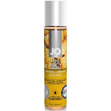 JO H2O Juicy Pineapple, 30 мл Съедобный лубрикант с ароматом Ананас sitabella маска x белый с металлическими заклепками