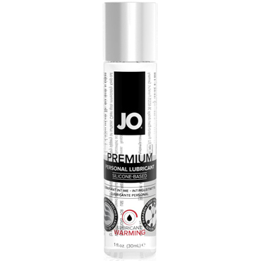 JO Premium Lubricant Warming, 30 мл Лубрикант на силиконовой основе с согревающим эффектом ошейник с красным подкладом