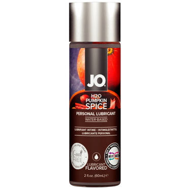 JO H2O Pumpkin Spice, 60 мл Съедобный лубрикант с ароматом Пряная тыква возбуждающий лубрикант jo personal h2o warming 60 мл