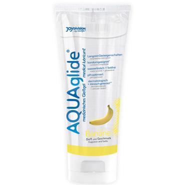 Aquaglide Banana, 100 мл Лубрикант на водной основе с ароматом банана универсальная смазка на водной основе aquaglide 200 мл